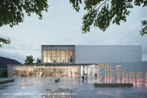 Construction centre culturel Sandillon - Dominique Coulon & Associés