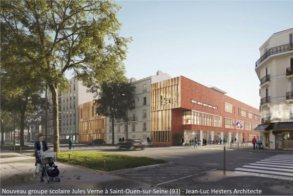 Nouveau groupe scolaire Jules Verne à Saint-Ouen-sur-Seine (93)