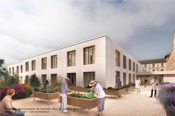 Restructuration / Extension de l'actuelle USLD et création d'une USPC - Hôpital Le Vésinet