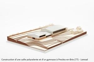 Construction d'une salle polyvalente et d'un gymnase à Presles-en-Brie (77) - LEMOAL