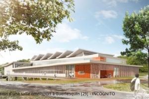 Construction d'une salle omnisport à Guerlesquin (29) - Incognito